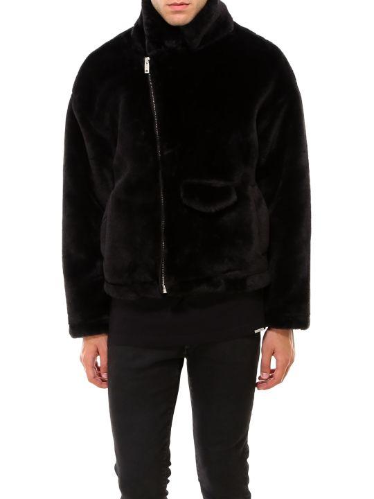 REPRESENT Faux Fur Biker Jacket