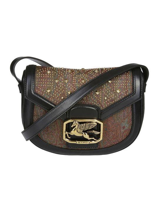 Etro Pegaso Paisley Studs Crossbody Bag