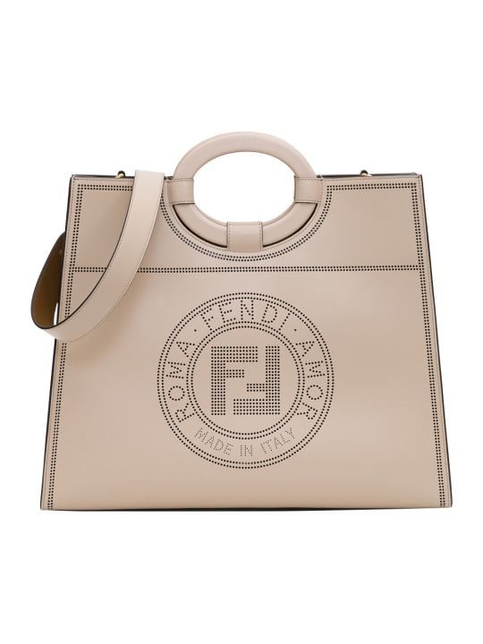 Fendi Ruaway Shopping Regular 34 X 41 X 12 Cm Calf Liberty Traferored Stamp Acc Plexi