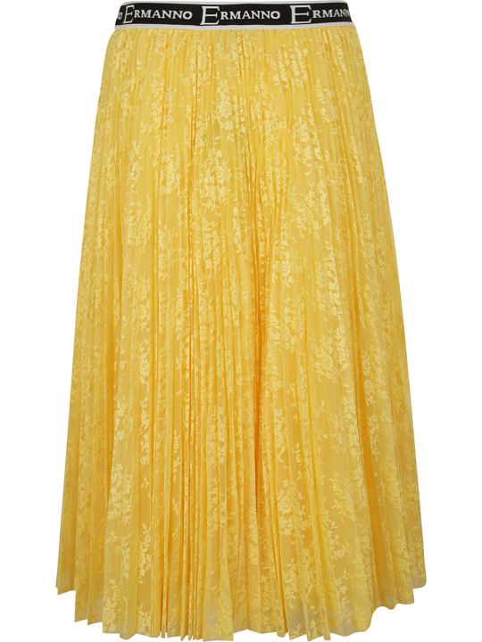 Ermanno Scervino Pleated Flared Skirt