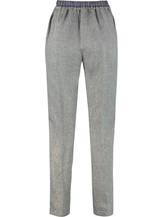 Forte_Forte High-waist Tapered-fit Trousers