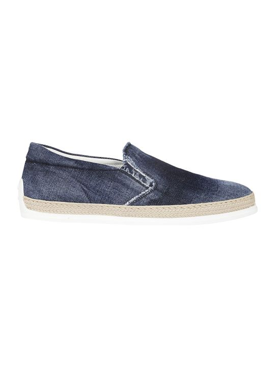 Tod's Denim Slip-on Sneakers