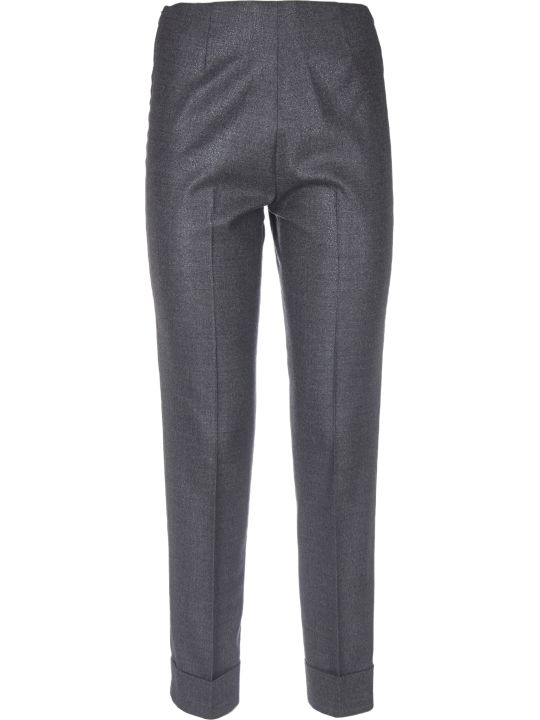 Peserico Lamè Grey Trousers