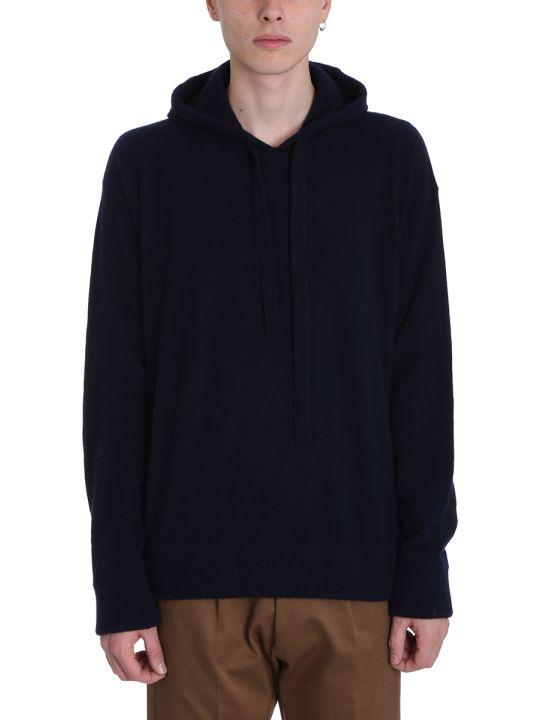Laneus Black Wool Hoodie