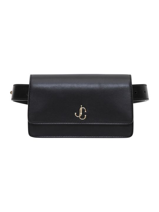 Jimmy Choo Varenne Belt Bag In Smooth Calf With Jc Piece