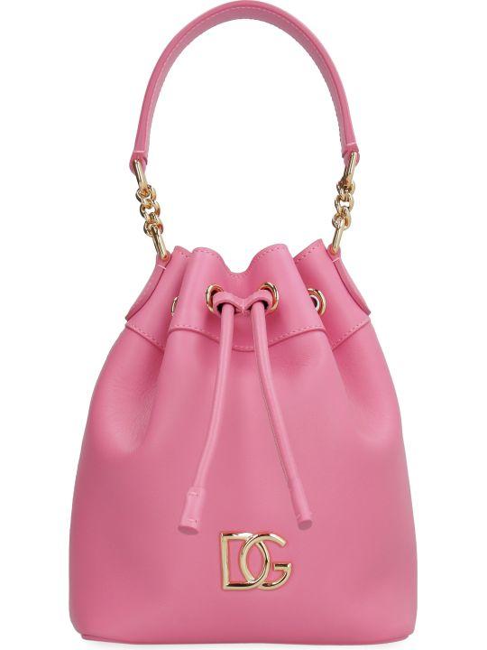 Dolce & Gabbana Dg Millennials Leather Bucket Bag