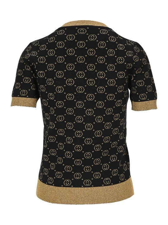 Gucci Wool Top With Gg Motif
