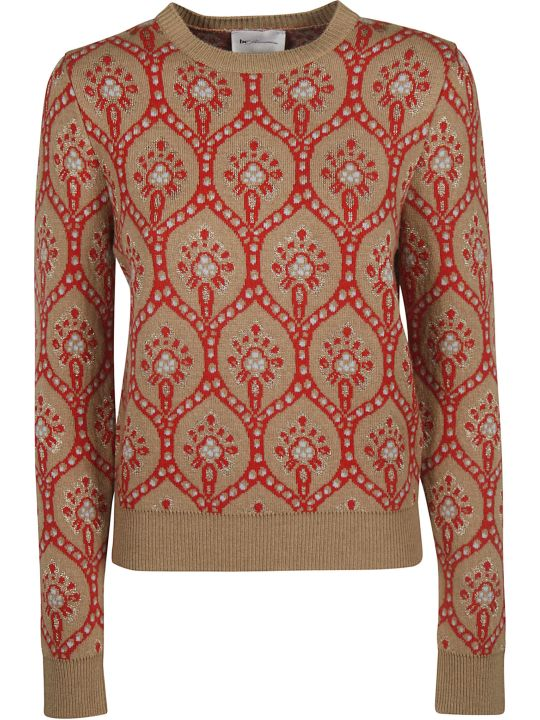 Be Blumarine Glittery Motif Print Sweater