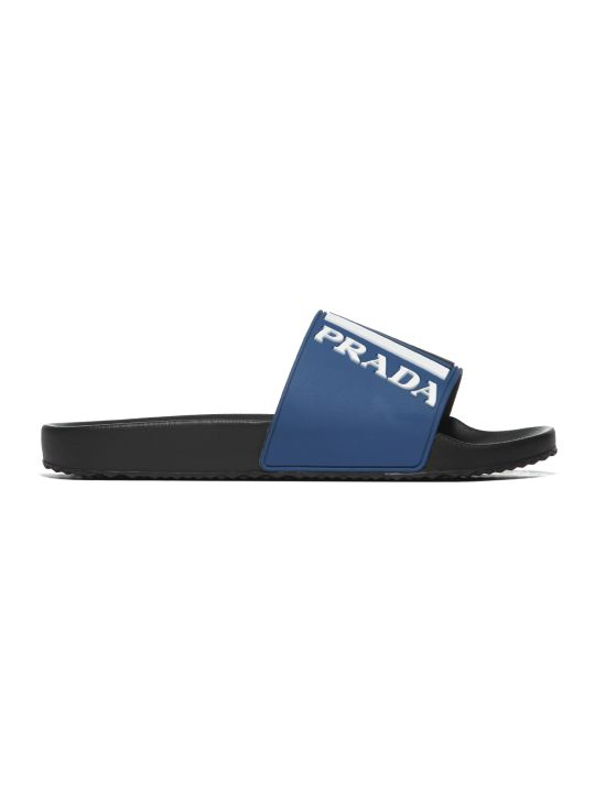 Prada Linea Rossa Graphic Logo Pool Slides