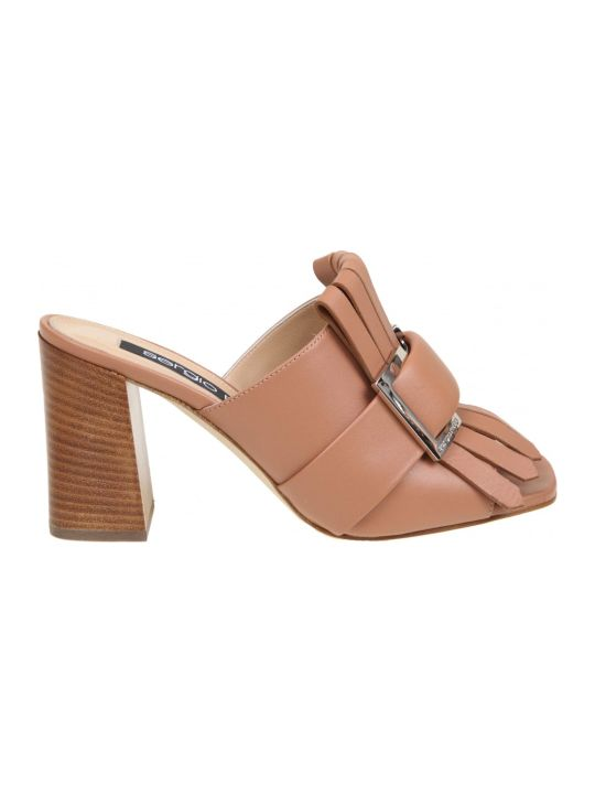 Sergio Rossi Leather Sandal Color Leather