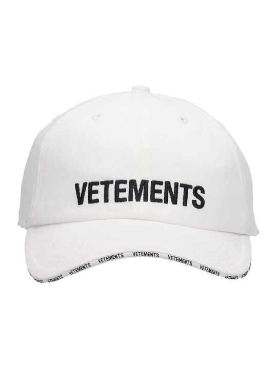 VETEMENTS Hats In White Cotton