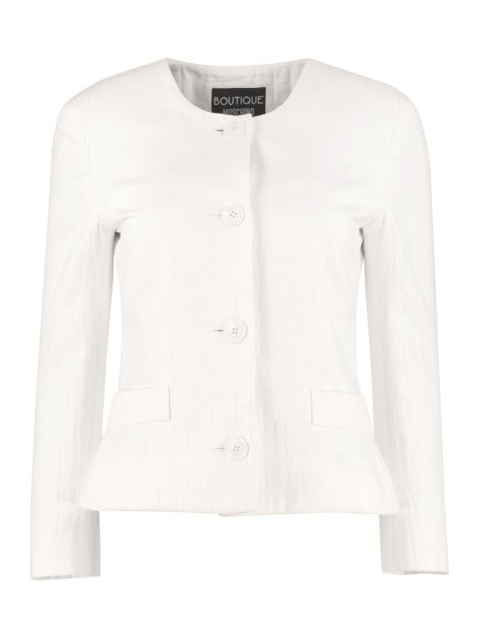 Boutique Moschino Cotton Jacquard Blazer