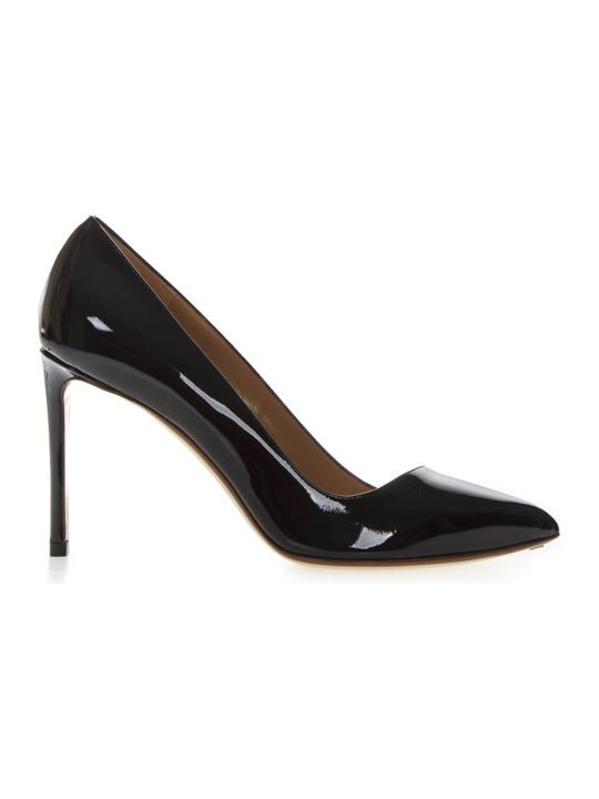 Francesco Russo Black Patent Leather Pumps