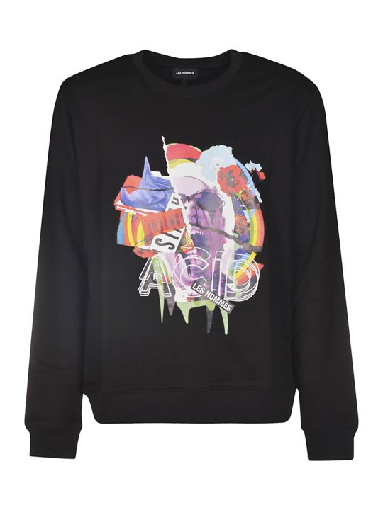 Les Hommes Acid Collage Sweatshirt