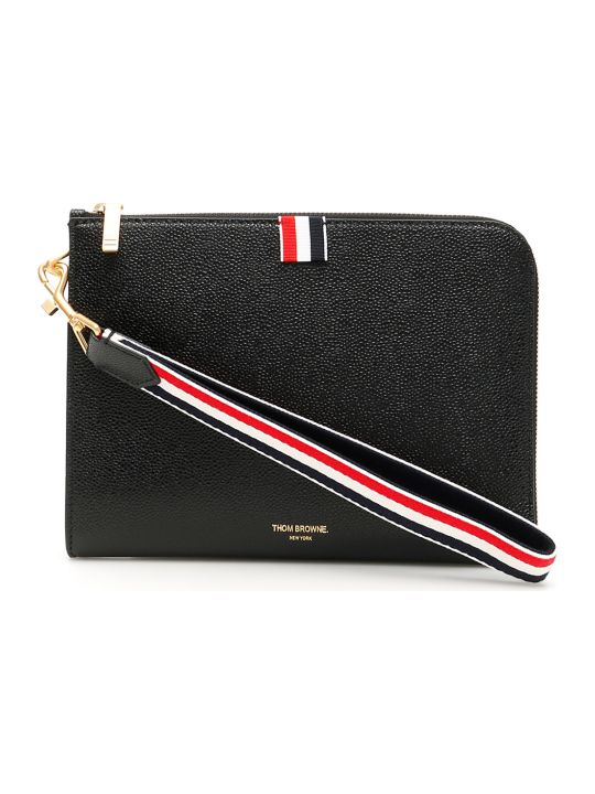 Thom Browne Small Grain Leather Pouch