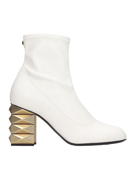 Giuseppe Zanotti Ankle Boots In White Tech/synthetic