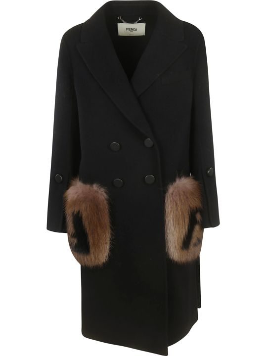 Fendi Double Breasted Coat