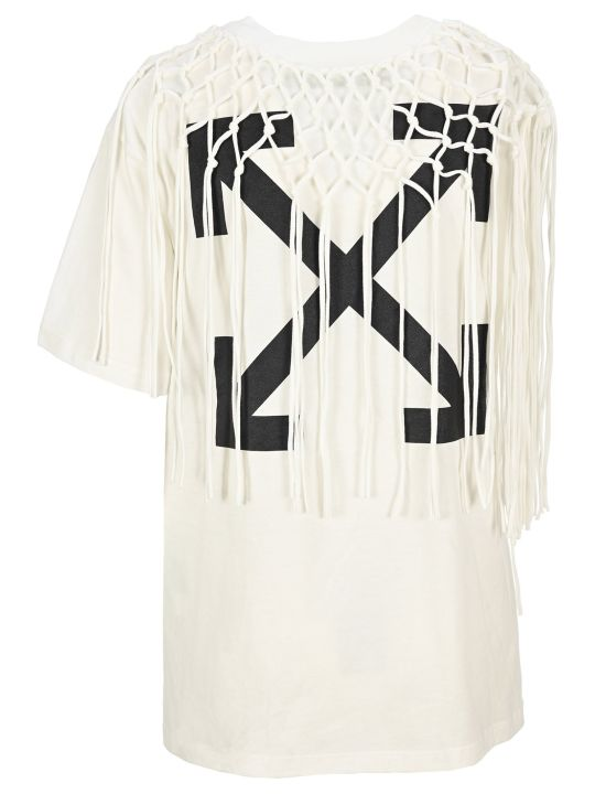 Off-White Off White Crochet Layer Arrow T-shirt