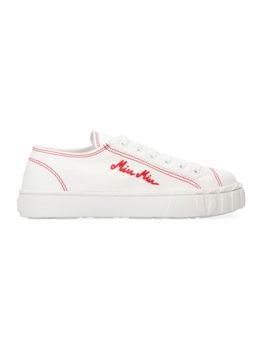 Miu Miu Canvas Low-top Sneakers
