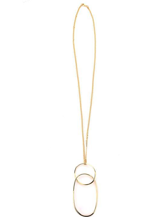 MM6 Maison Margiela Double-hoop Metal Chain Necklace
