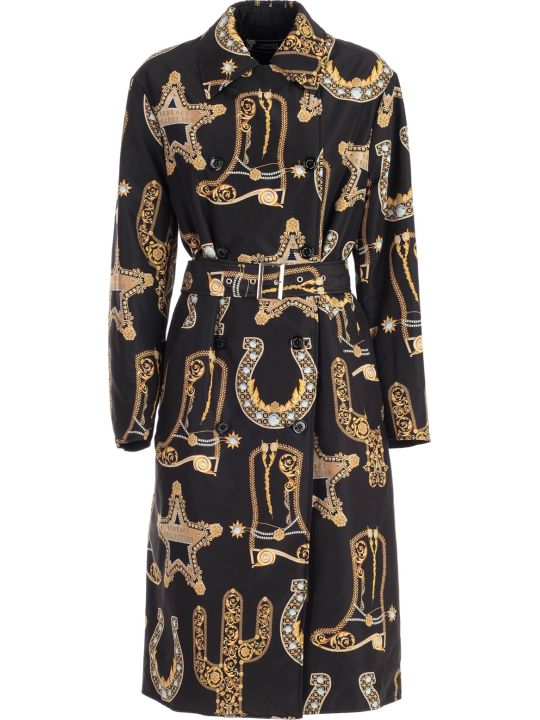 Versace Collection Trench Nylon Baroque Printing