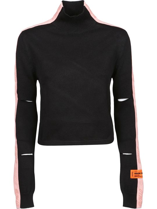HERON PRESTON Cut Out Detailed Sweater