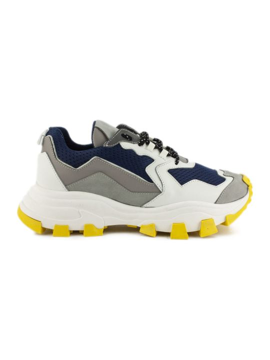Cinzia Araia Dragon Trail Sneaker In White And Blue