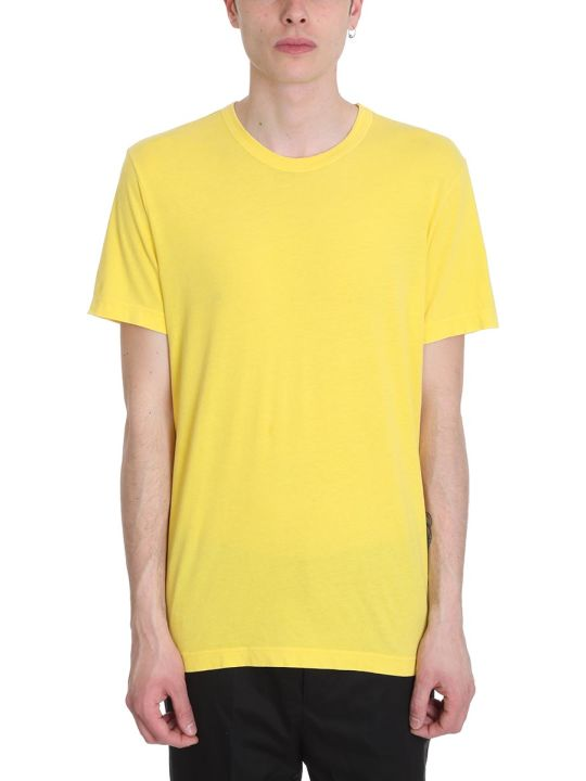 James Perse Yellow Cotton T-shirt