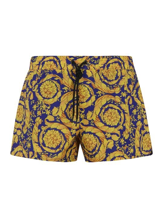 Versace Drawstring Printed Shorts