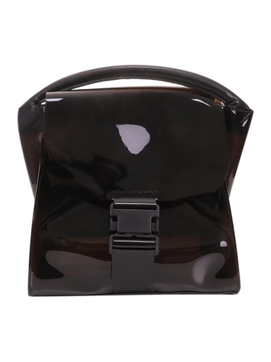 Zucca Black Pvc Buckled Bag