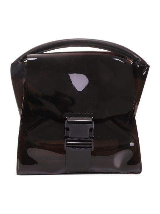 Zucca Black Pvc Buckled Bag
