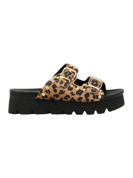 Cult Animalier Cowhide Leather Sandal