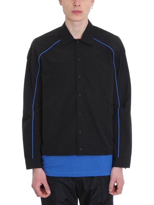 Ben Taverniti Unravel Project Black Nylon Shirt