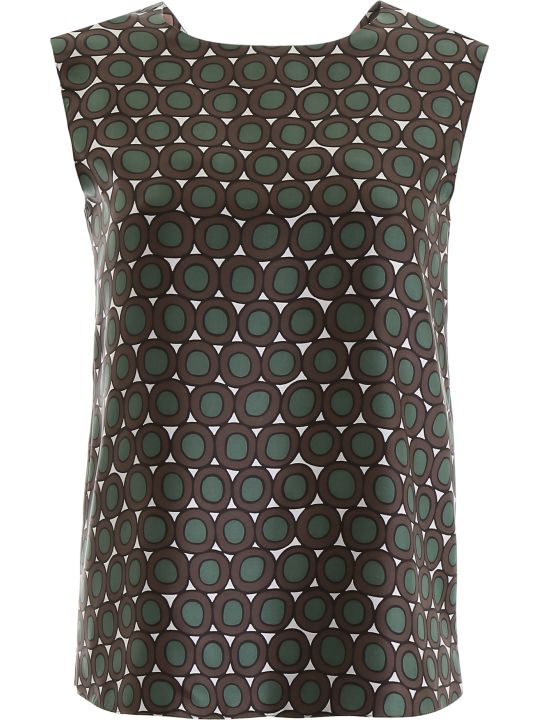 'S Max Mara Here is The Cube Reversible Printed Top