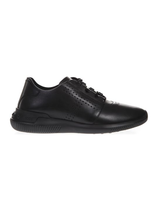 Tod's Black Leather Holes Sneaker