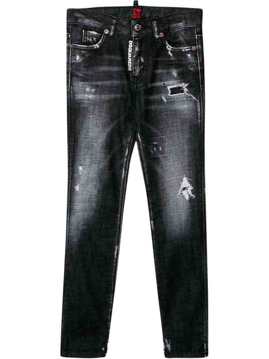 Dsquared2 Black Denim Jeans Teen