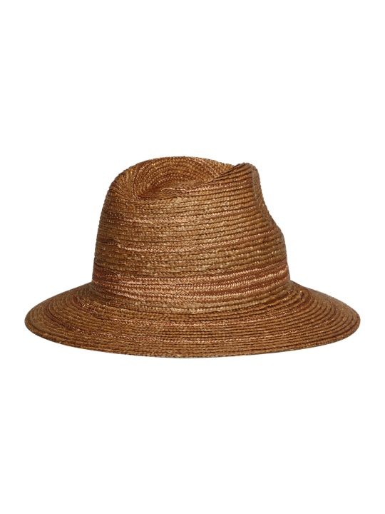 Maison Michel Rico Lame` Straw Hat