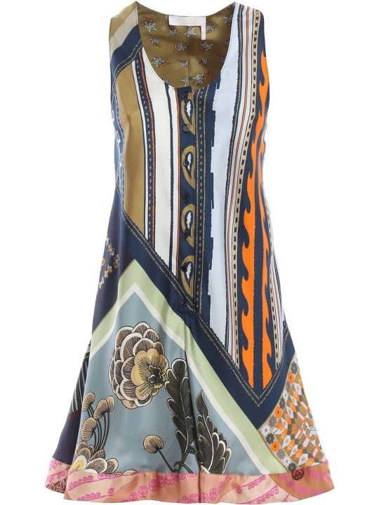 Chloé Racerback Printed Dress
