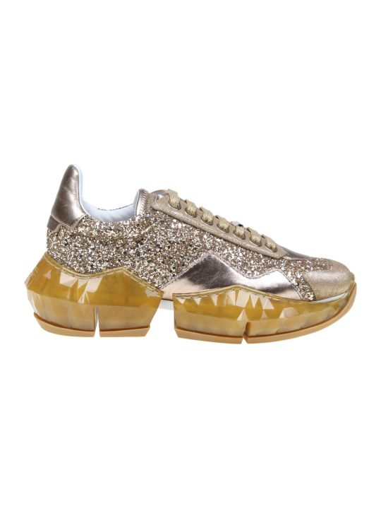 Jimmy Choo Sneakers Diamond / F In Glittery Fabric Color Gold