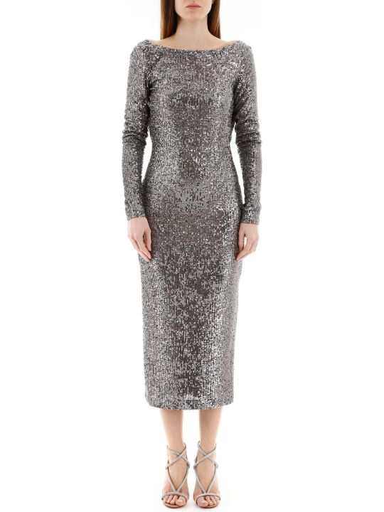In The Mood For Love Sandy Sequined Midi Dress