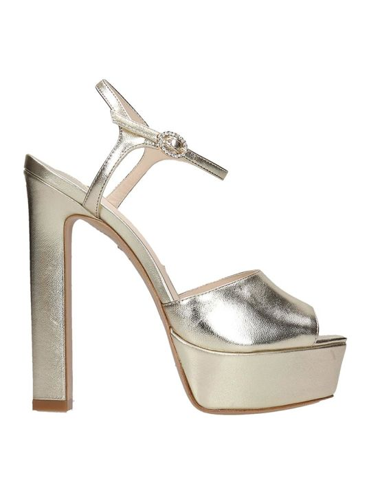 Sophia Webster Natalia Sandals In Gold Leather