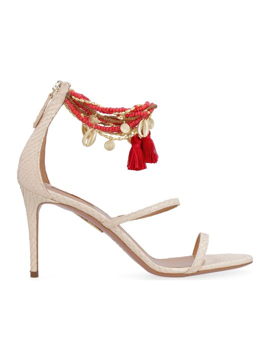 Aquazzura India Leather Sandals