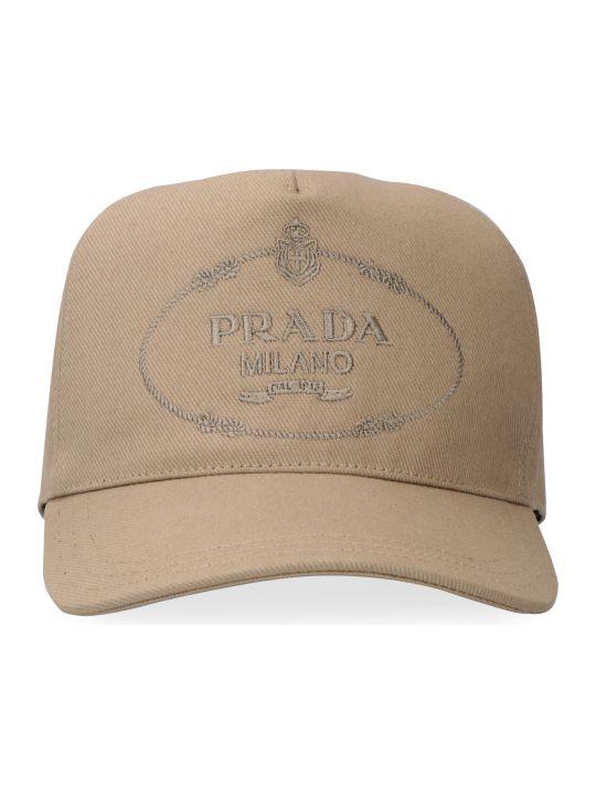 Prada Logo Embroidery Baseball Cap