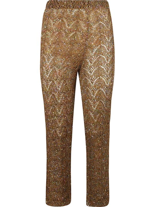 Circus Hotel Patterned Knit Cropped Trousers