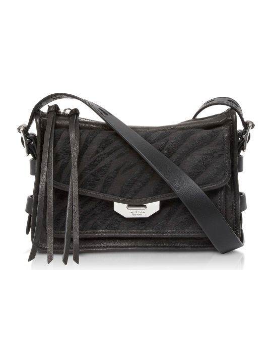 Rag & Bone Black Zebra Small Field Messenger Bag