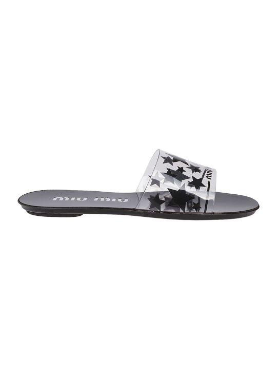 Miu Miu Plexi Flat Sandals