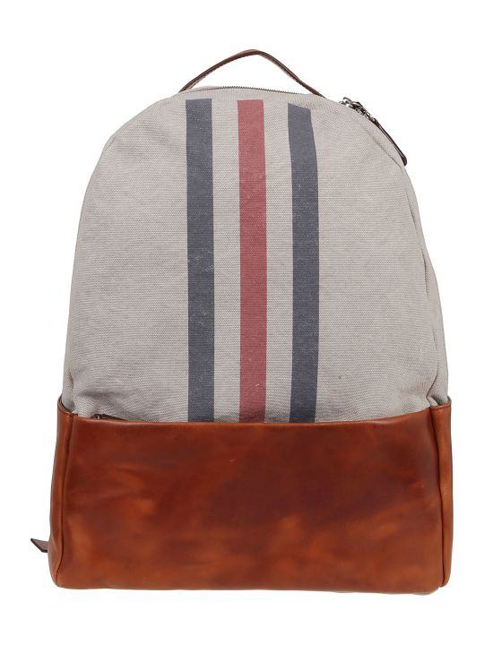 Eleventy Striped Front Backpack
