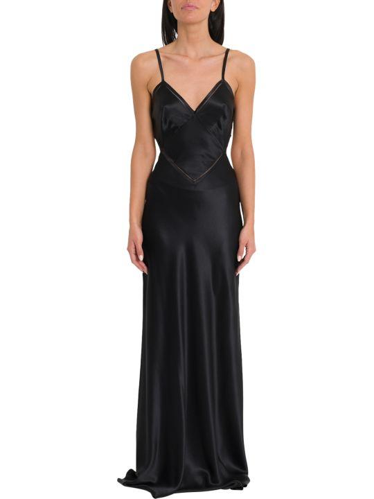 Alberta Ferretti Long Silk Satin Dress