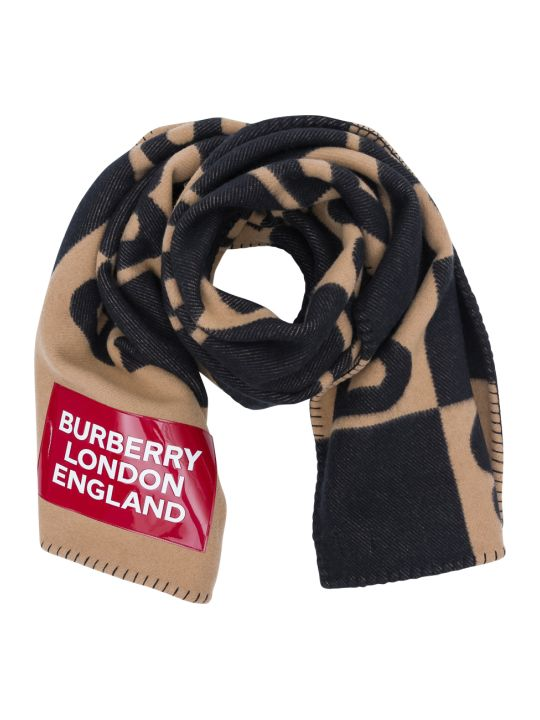 Burberry Reversible Cashmere Blanket Cape With Allover Logo