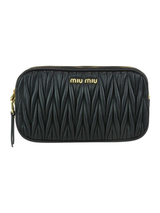 Miu Miu Matelasse' Leather Mini Bag